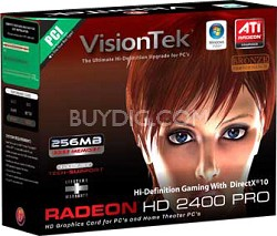 Radeon HD2400 Pro 256MB PCI VGA DV-I TV Out 900176- OPEN BOX