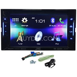 "KW-V21BT Double Din Multimedia Car DVD/CD Reciever w/ 6.2"" Touch Screen Monitor"