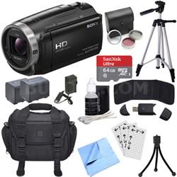 HDR-CX675/B Full HD Handycam Camcorder with Exmor R CMOS Sensor Deluxe Bundle