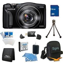 FinePix F750EXR 16MP EXR CMOS Digital Camera 16 GB Bundle (Black)