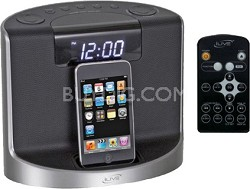 IC609 Intelli-Set Clock Radio with iPod Dock (Black)