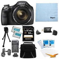 DSC-H400/B 63x Optical Zoom 20.1MP HD Video Digital Camera Kit