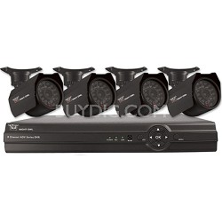 8-Channel Security System with 500GB HD and 4 Indoor/Outdoor Cameras & Pro App