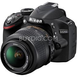 D3200 24.2 MP CMOS Digital SLR Camera (Black) With 18-55 Dx VR Lens