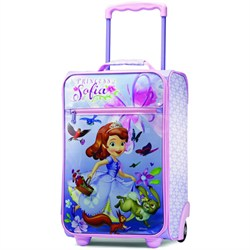 """18"""" Upright Kids Disney Themed Softside Suitcase (Sofia the First)"""