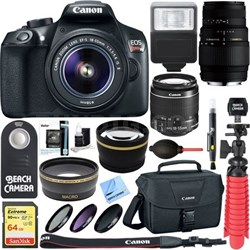 EOS Rebel T6 DSLR Camera with EF-S 18-55mm IS II & 70-300mm Lens + Accessory Kit