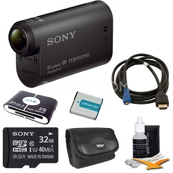 HDR-AS20/B Compact POV Action Cam Camcorder Bundle