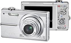 FE-370 8MP Digital Camera with Smile Shot (Silver) - OPEN BOX