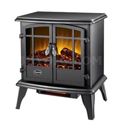Comfort Glow Keystone Quartz Electric Stove in Black - EQS130
