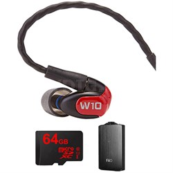 W10 Premium Single Driver In-Ear Monitor Headphones-78501 w/ FiiO A3 Amp Bundle