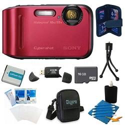Cyber-shot DSC-TF1 16 MP 2.7-Inch LCD Waterproof Digital Camera Red Kit