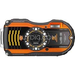 WG-3 16MP Orange Waterproof Shockproof Crushproof Digital Camera