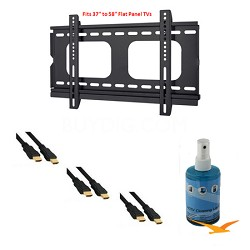 HDTV Essentials Package for TVs 37-58 inches (HDMI Cables, Slim Mount and More)