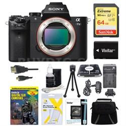 Alpha 7II Interchangeable Lens Camera Body 64GB Bundle