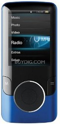 """MP3 Video Player with 2"""" Display, 4 GB Flash Memory & FM (Blue)"""