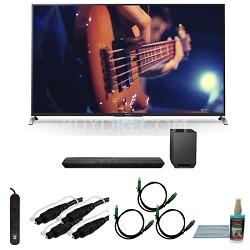 KDL65W950B - 65-Inch Ultimate Smart 3D LED HDTV Motionflow XR 480 Bundle