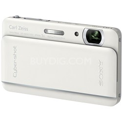 "Cyber-shot DSC-TX66 18.2 MP Exmor R CMOS Camera 5X Zoom 3.3"" OLED (White)"