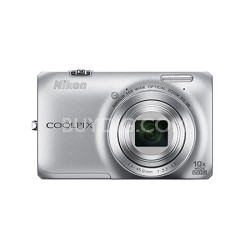 COOLPIX S6300 16MP 10x Opt Zoom 2.7 LCD Digital Camera - Silver