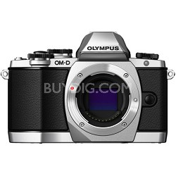 OM-D E-M10 Mirrorless Micro Four Thirds Digital Camera Body Only - Silver