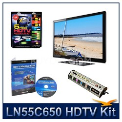 """LN55C650 - 55"""" LCD HDTV + Hook-Up + Power Protection + Calibration DVD"""