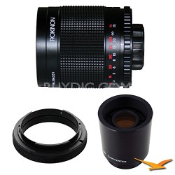 500M / 1000mm f/8.0 Mirror Lens for Nikon with 2x Multiplier