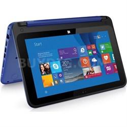 "HP Stream 11-p010nr x360 Convertible 11.6"" HD Touchscreen Tab. - Blue - OPEN BOX"