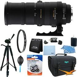 150-500mm F/5-6.3 APO DG OS HSM Autofocus Lens For Nikon Lens Kit Bundle