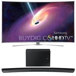 "UN55JS9000 Curved 55"" 2160p 3D 4K SUHD LED TV HW-J8500 Soundbar Bundle"