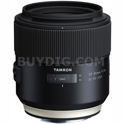 SP 85mm f1.8 Di VC USD Lens for Canon Full-Frame EF Mount Cameras (F016)
