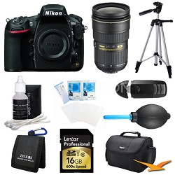 D810 36.3MP 1080p HD DSLR Camera AF-S 24-70mm f/2.8G ED Pro Lens Bundle
