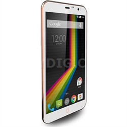 "LINK A6 Unlocked Dual Core Smartphone with 6"" Display (White) - OPEN BOX"
