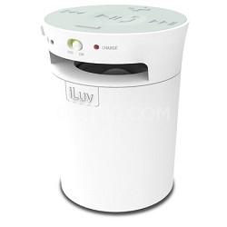MobiCup Splash-Resistant Wireless Bluetooth Speaker and Speakerphone - White