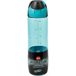 Clip and Go 24 oz Bottle, Cyan Blue