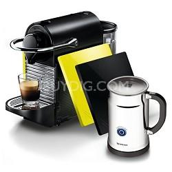 Pixie Clip Black and Lemon Neon Espresso Machine Bundle