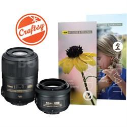 Macro and Portrait 2 Lens Kit for Nikon Digital SLR Cameras 85mm And 35mm(13490)