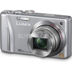 Lumix DMC-ZS8 14MP Silver Digital Camera w/ 16x Zoom