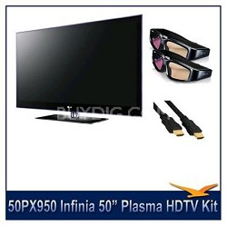 "50PX950 Infinia THX 50""  Plasma  HDTV 1080p  2 3D Glasses"