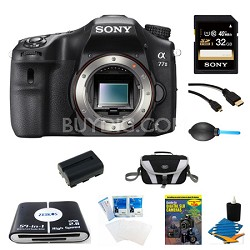 a77II HD DSLR Camera, 32GB Card, and Battery Bundle