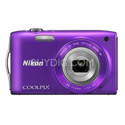 COOLPIX S3300 16MP 6x Opt Zoom 2.7 LCD - Purple