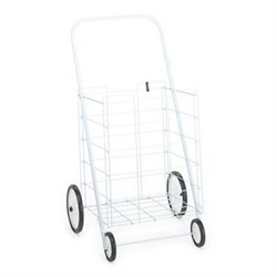 4-Wheel Large Tote Cart in White - 4671005