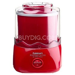 1-1/2-Quart Automatic Ice Cream Maker (Red)