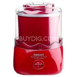 1-1/2-Quart Automatic Ice Cream Maker (Red)