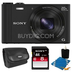 DSC-WX300/B Black Digital Camera 8GB Bundle