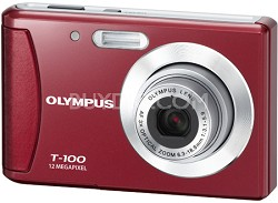 "T-100 12MP 2.4"" LCD Digital Camera (Red)"