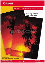 "Pro Photo Paper Borderless 4"" X 6"" - 20 Sheets"