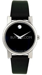 0604230 - Men's Moderna Black Leather & Dial
