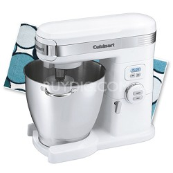 SM-70 7-Quart 12-Speed Stand Mixer (White) with Kitchen Towel
