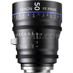 50MM Xenon Full Frame 4K Prime XN 2.1 / 50 Feet Lens for Nikon F Mounts