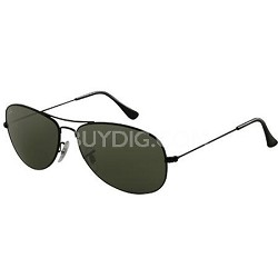 Cockpit Sunglasses Black Frame -Grey lens 59MM