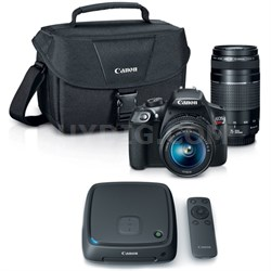 EOS Rebel T6 SLR Camera w/ 18-55mm and 75-300mm Lens Kit + 1TB CS100 Storage Hub